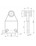 Carrucola nylon 2 cuscinetti - Diametro 15