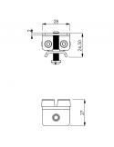 Paracolpo fermacorsa per carrello - diametro 24