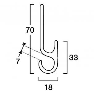 Profilo tensione telo nl ml.3 - Alluminio